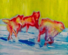 Sunset Wolves (PRIVATE COLLECTION)
