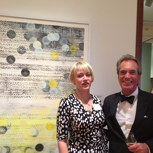 In front of my painting Melody of Solitude with NBMAA director Douglas Hyland.