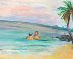 couple in paradise (PRIVATE COLLECTION)